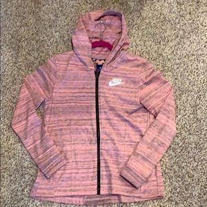 Pink nike women's jacket
